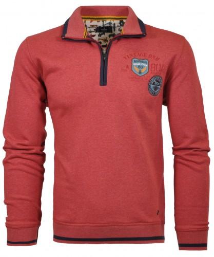 RAGMAN Sweatshirt mit Artwork und Zip