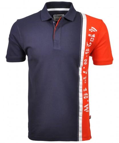 RAGMAN Poloshirt mit vertikalem Dessin
