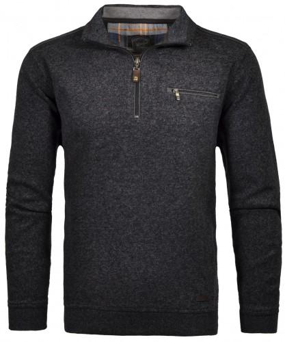 RAGMAN Sweatshirt mit Stehkragen und Zip
