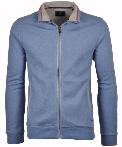RAGMAN Sweat-Cardigan mit Stehkragen und Zip