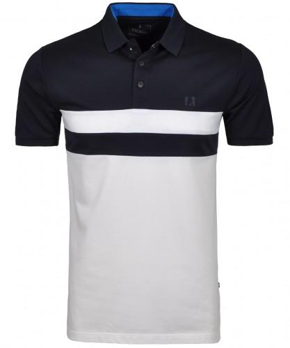 Horziontal gestreiftes Poloshirt