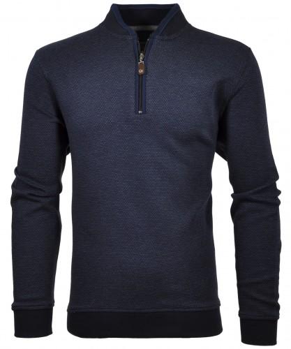 RAGMAN Jacquard-Pullover mit Zip