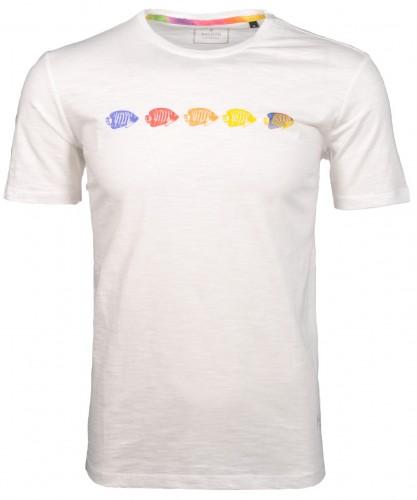 RAGMAN T-Shirt with flame optic and print