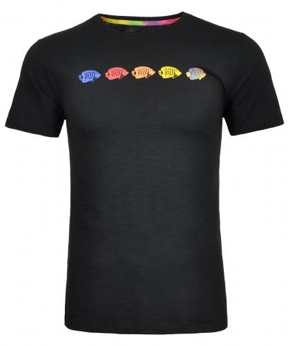 RAGMAN T-Shirt Flamm-Optik mit Print