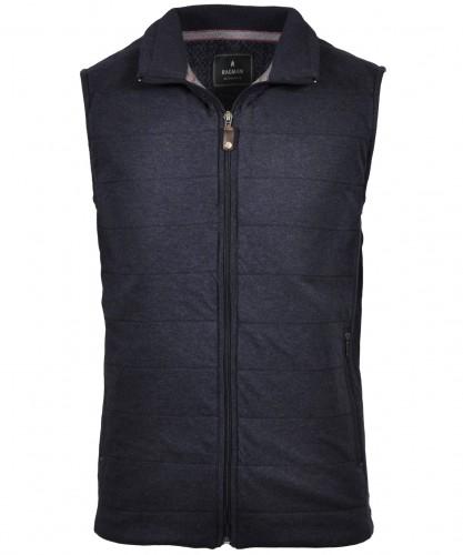 RAGMAN vest wiht stand up collar and zip