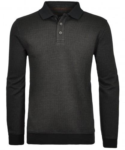 Polo-Sweatshirt Jacquard