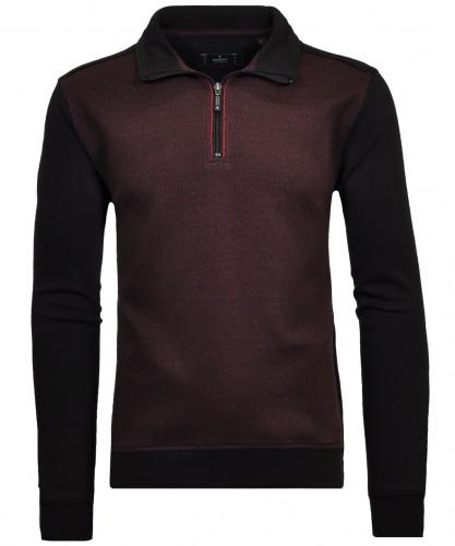 Sweatshirt mit Stehkragen Rot-Schwarz-196