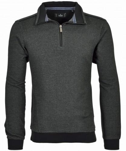 Sweatshirt mit Troyer Anthrazit-019