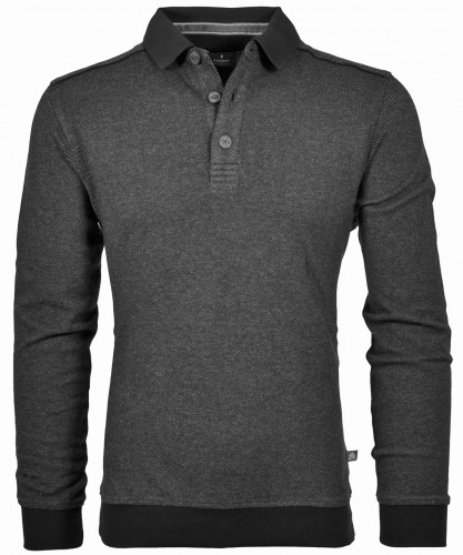 RAGMAN Sweatshirt with Polo collar