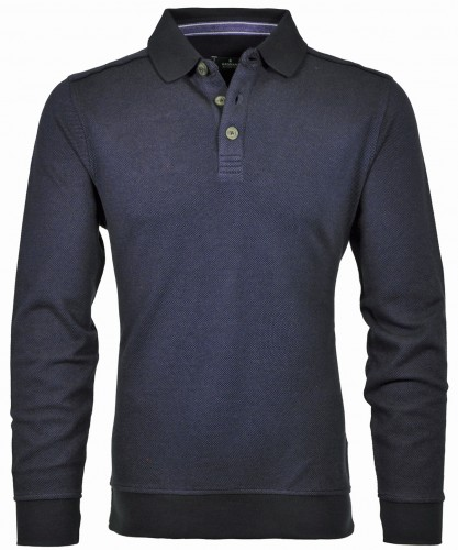 Sweatshirt mit Polokragen Azur-778