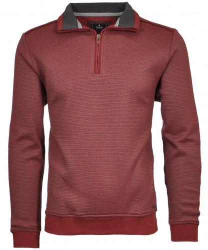 Stehkragen-Sweater mit Zip