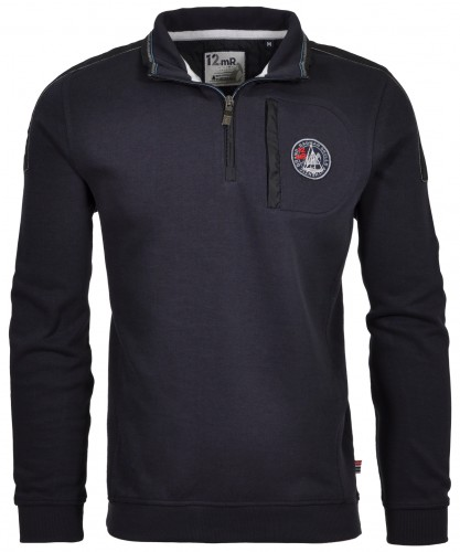 Sweatshirt mit Stehkragen und RV