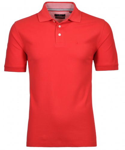 RAGMAN Piqué-Polo solid Red-640