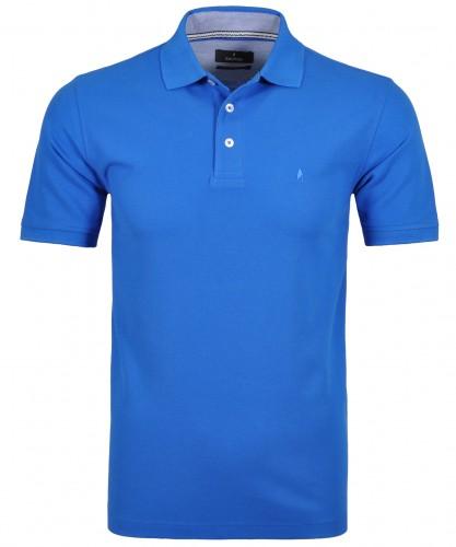 Poloshirt Blau-Melange-771