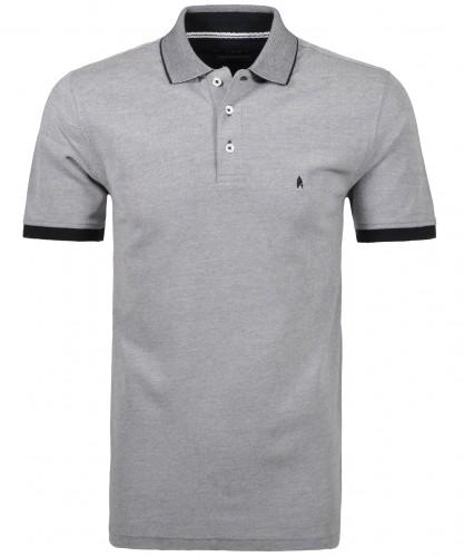 Poloshirt ohne Brusttasche Schwarz-009