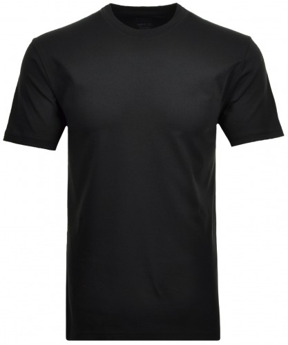 2 T-shirts in double-pack with round neck Black-009
