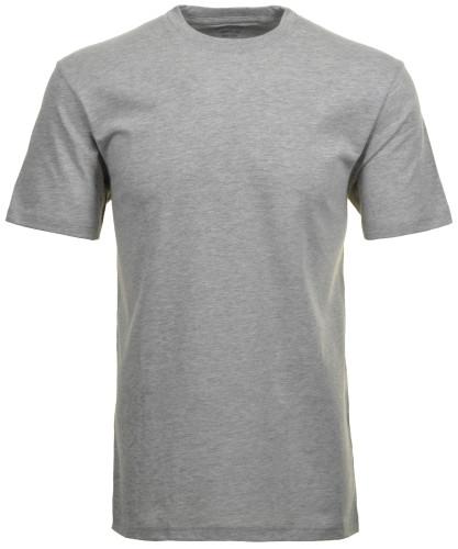 RAGMAN Doppelpack - 2 T-Shirts mit Rundhals Grau-Melange-012