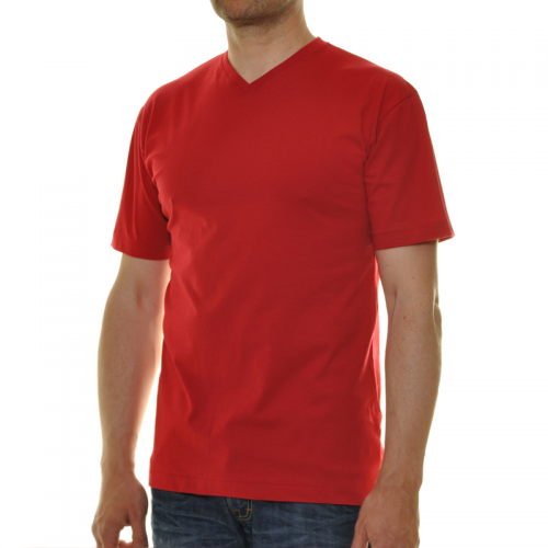 T-Shirt mit V-Ausschnitt Mandarine-067