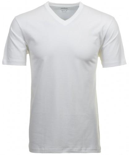 RAGMAN Doppelpack - 2 T-Shirts mit V-Ausschnitt Weiss-006
