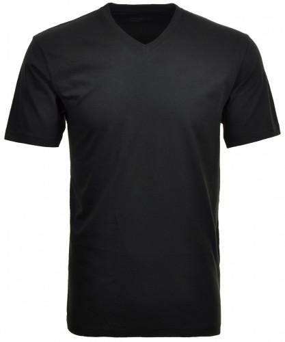 RAGMAN Doppelpack - 2 T-Shirts mit V-Ausschnitt Schwarz-009