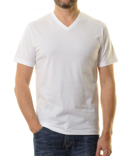 2 T-shirts Doublepack with V-neck