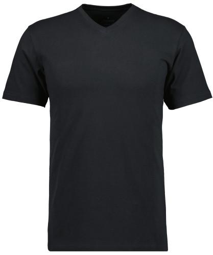 RAGMAN T-Shirt V-Ausschnitt Single-Pack Schwarz-009