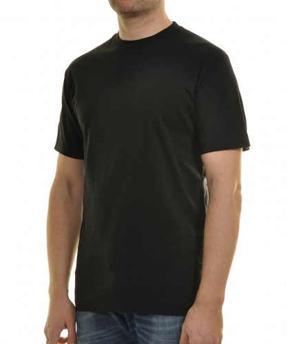 T-Shirt Singlepack Schwarz-009