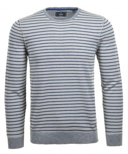 Pullover rundhals, maritime Streifenoptik
