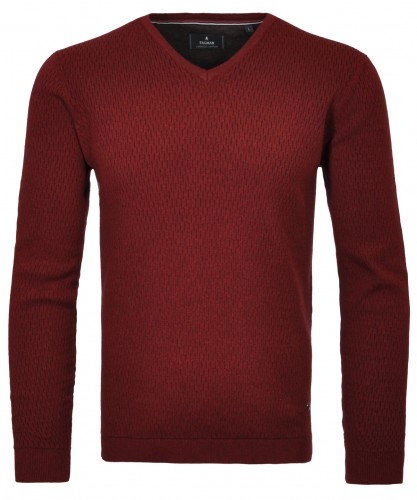 RAGMAN Sweater with V-neck and structure
