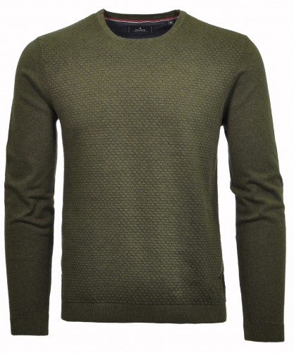 RAGMAN Sweater with round neck and structure