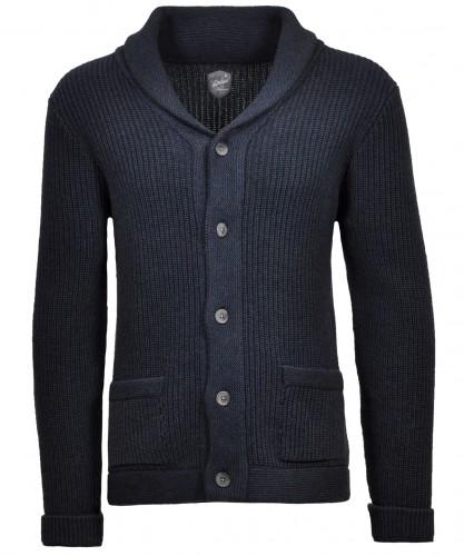 Cardigan with shawl collar