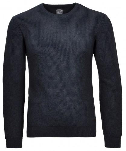Pullover rundhals Nachtblau-079