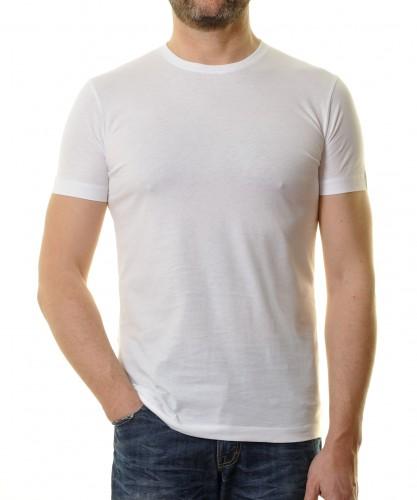 T-Shirt Bodyfit mit Rundhals Weiss-006