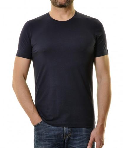 T-Shirt Bodyfit mit Rundhals Marine-070