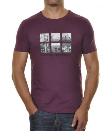 "RAGMAN T-Shirt ""Skyline"" Pflaume-425"