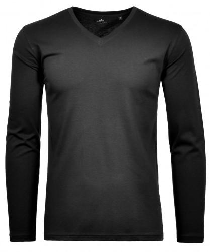 RAGMAN Shirt V-Neck, longsleeve