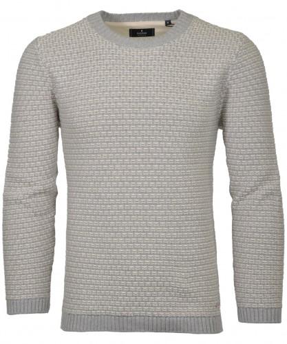 RAGMAN Strick-Pullover mit Struktur, Rundhals