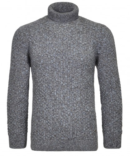 """Rollkragen-Pullover """"Mouliné"""""""