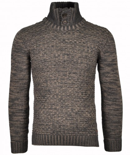 RAGMAN Strick-Pullover mit Stehkragen