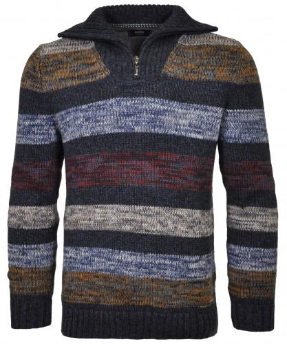 RAGMAN Tweed-Pullover gestreift