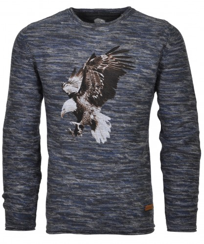 RAGMAN knitted Sweater with eagle-print