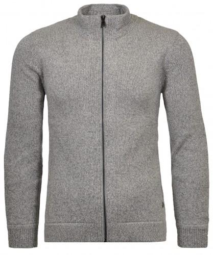 Cardigan with zipper