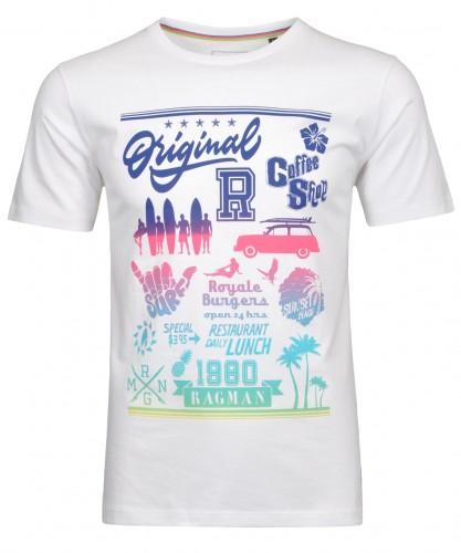 T-Shirt mit Rundhals und Front-Print