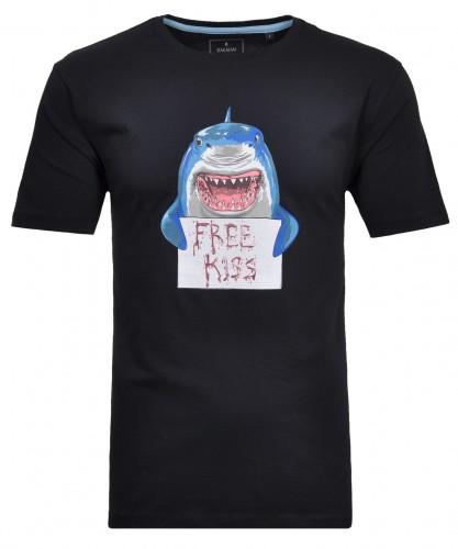 T-Shirt Rundhals Marine-070