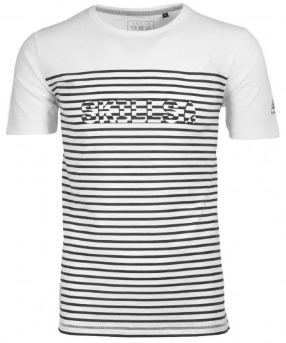 Gestreiftes T-Shirt Rundhals