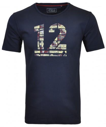 Rundhals T-Shirt mit RM12 Print