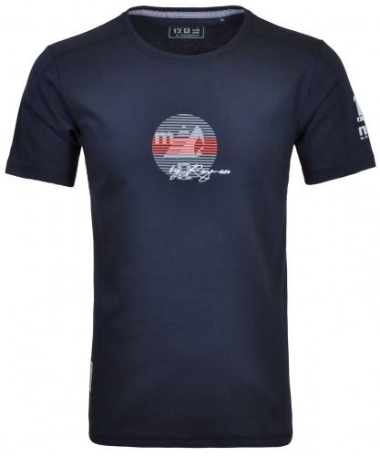 Rundhals T-Shirt mit neck Print
