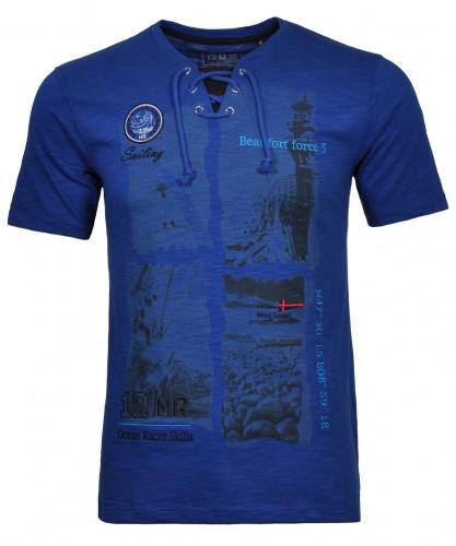 RAGMAN T-Shirt with V-neck and print