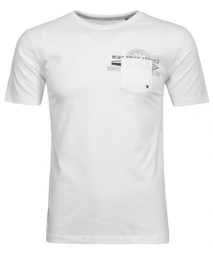 RAGMAN T-Shirt with with print and chest pocket