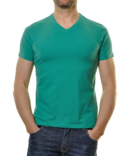 T-Shirt V-Ausschnitt einfarbig